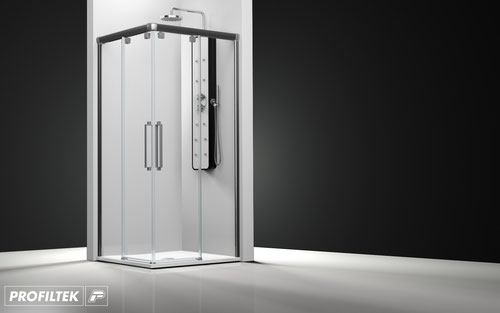 Mampara de ducha angular corredera Profiltek Vetro VT-220