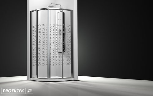 Mampara de ducha curva corredera Profiltek Ecodux EC-260