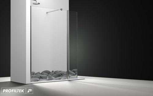 Mampara de ducha frontal abatible Profiltek Arcoiris Plus AC-240