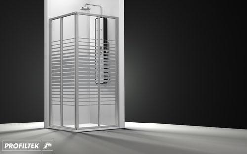 Mampara de ducha angular corredera Profiltek Ecodux EC-220