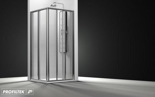 Mampara de ducha angular corredera Profiltek Ecodux EC-226