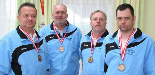 v.l. Werner Dienstl, Hans Samwald, Rudolf Haiberger u. Christian Stockhammer