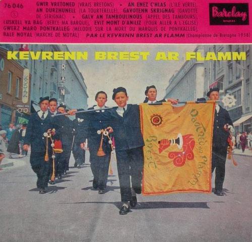 La Kevrenn Brest Ar Flamm est à l'origine du bagad Plougastel.   Il fût fondé en 1974 par les sonneurs du Bagad Ar Flamm à sa cessation d'activité.