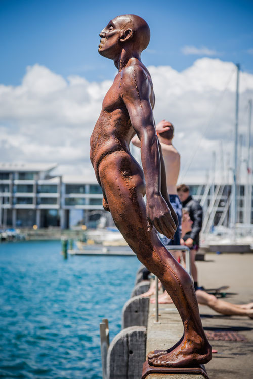 Statue at the harbour in Wellington