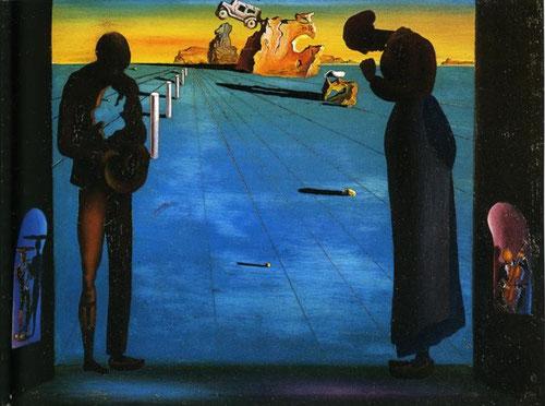 """Dalí,Angelus 1932.Toda le serie con referencias al Ángelus de Millet, cuyo recuerdo infantil en el colegio de maristas de Figueras le obsesiona.En este mito trágico basa su método paranoico, en la obra """"más turbadora, enigmática y rica que jamás existió."""""""