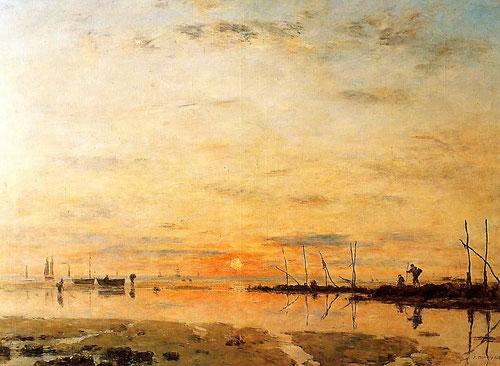 Eugène Boudin.Marea baja 1884.Oleo sobre lienzo,11117x160cm.Musée des Beaux Arts de Saint Lô.