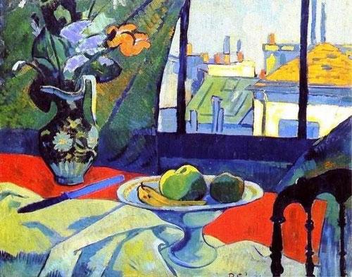 Paul Sérusier.Nature Morte 1891.Gran influencia de Cezanne.Refleja fielmente la percepción del mundo visible,abriendo la senda del cubismo.Pureza de líneas y vibración colorista.