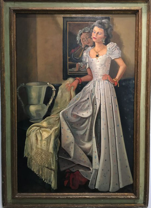 André Derain.Retrato de Carmen Baron 1944.Óleo sobre lienzo 146x97cm. Colección particular.