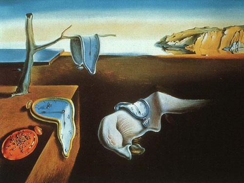 La persistencia de la memoria,1931 La desintegración dinámica de los relojes era uno de sus temas preferidos. Espacio y tiempo, dos conceptos trascendentales en su obra.