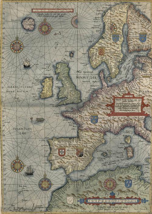 Experto marino, piloto holandés,  Waghenaer, realizó numeroso viajes, fundador de la escuela de cartógrafos de Holanda. Fue manual de navegación y primer atlas naútico!