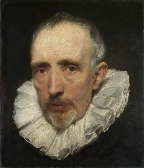 """Van Dyick. Cornelis van der Geest.1619-20. Óleo sobre tabla encastrado en soporte de roble.37X32cm,Londres.Comerciante de especias, inversor inmobiliario, coleccionista,intelectual,""""amante de la pintura""""."""