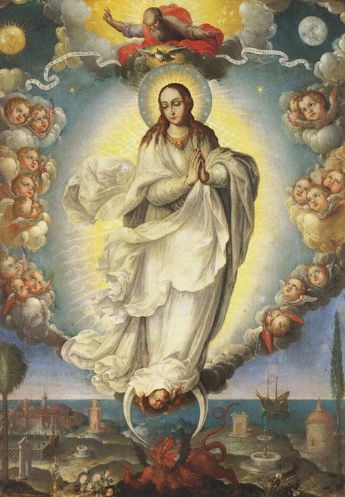 Fray Alonso López de Herrera O.P traslada la devoción mariana al continente americano,fue virrey de Nueva España,prior de los dominicos de Zacatecas,franciscanos y jesuitas junto a los monarcas trasladan el culto mariano.