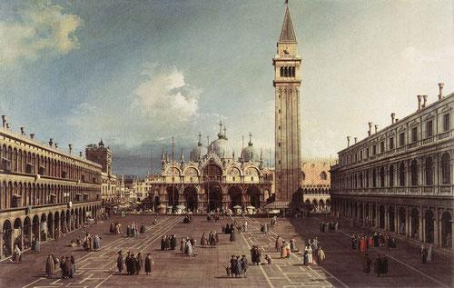"""Giovanni Antonio Canal """"Il canaletto"""". Plaza de San Marcos en Venecia.1723"""