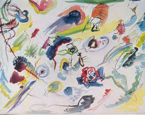 En 1910 Kandinsky pinta la primera acuarela abstracta,dando un paso histórico en la renovación artística de pintura abstracta.El más extremo:Málevich,en Europa se adhiere Mondrian,en Alemania el Bahaus,todo un cambio revolucionario para expresar emociones