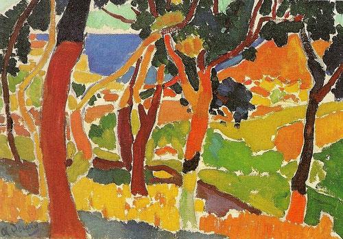 André Derain.L´Estaque 1906.Óleo sobre lienzo 38x55cm. Musée des Beaux Arts, La Chaux-de Fonds.Suiza.