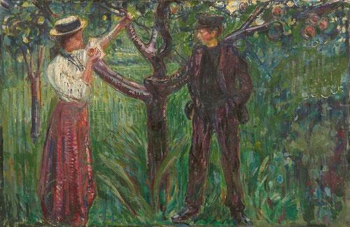 Adán y Eva 1909 Óleo sobre lienzo 130x202cm.Munch Museet,Oslo.