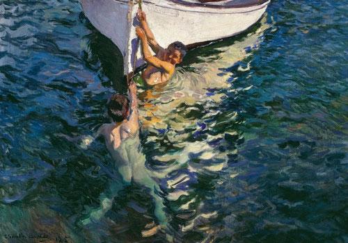 Sorolla.El bote blanco. Jávea.1905. Óleo sobre lienzo,colección particular.