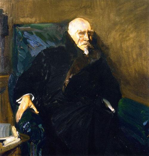 Joaquin Sorolla.José Echegaray 1910. El dramaturgo e ingeniero Echegaray ya le habían concedido el Premio Nobel de Literatura,miembro de la Hispanic Society se le concedió la medalla de las Artes y de las Letras.