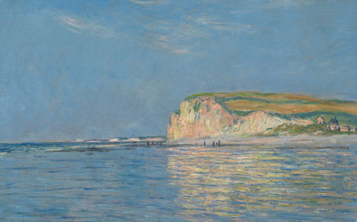 "Claude Monet.Marea baja en Porville, cerca de Dieppe 1882.Óleo sobre lienzo,60x81cm.The Cleveland Museum of Art.A su llegada a Pourville ya utilizaba la palabra ""series"" en 8 estudios a la vez.."