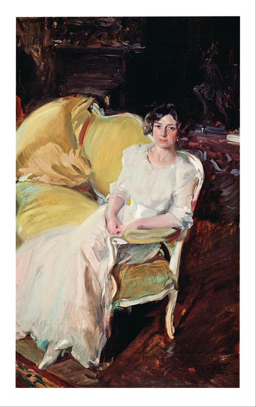 Clotilde en el sofá es la obra mas comentada y que refleja la elegancia sin artificio, ese modo de posar con tanta naturalidad mirando de frente a su marido llena su presencia ocupando una parte del lienzo..Composición diagonal sencilla y humana.