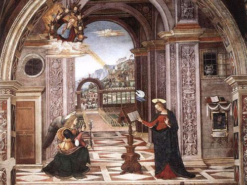 La Anunciación. Pinturrichio (Fresco).