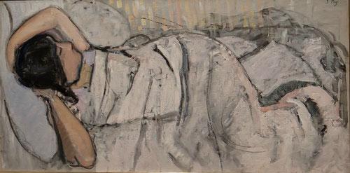 Jean Puy.Mujer dormida 1904.Museo Municipal Ville Franche. Escena intimista cuya delicadeza y sensualidad aleja sus pinturas de sus compañeros.