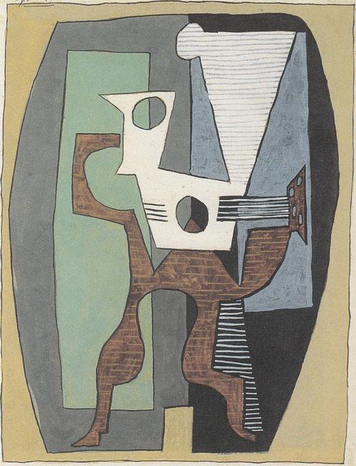 Frutero y mandolina sobre un velador,Juan-les Pins,8 julio 1920.Kunstmuseum Winterthur.Legado Dr Emil y Clara Frederich.