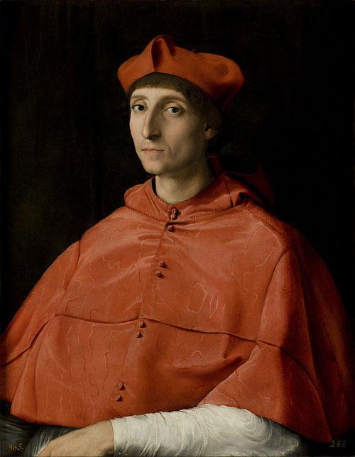 El Cardenal. Rafael. 1510. Museo del Prado. Cumbre del retrato universal.