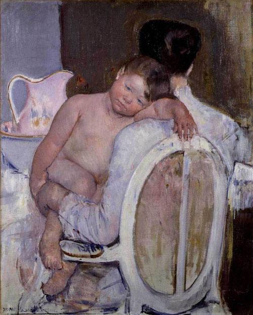Mary Cassatt. Mother holding a child in her arms.1890. Trabajó con extrema sensibilidad escenas domésticas, como sus maternidades, en todas ellas subyace,elegante, la expresión de amor,expresivos dibujos de una carrera artística reconocida de forma tardía