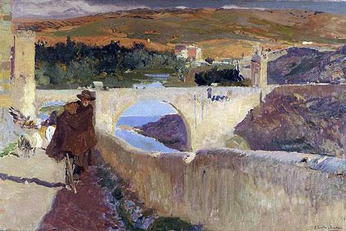El ciego de Toledo sube la cuesta de los Doce Cantos donde los burros solían subir los cántaros de agua del rio, pintado en 1906.Museo de Dallas.