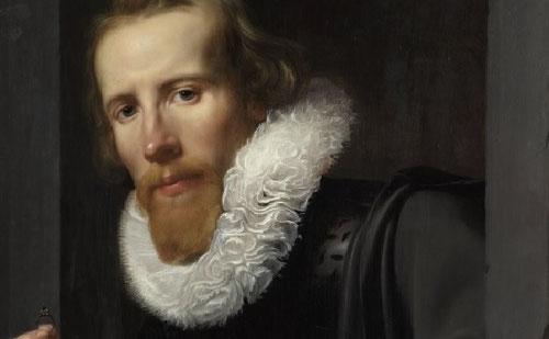 Werner van den Valckert.Retrato de un orfebre.Óleo sobre tabla 66x49cm.Amsterdam Rijksmuseum.  El gusto por los ropajes negros se convirtió en un desafío para los artistas, así como los cuellos de lechuguina prohibidos en 1623 por opulentos y excesivos.