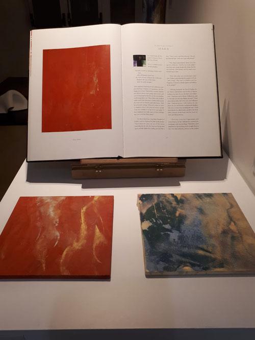 Makoto Fujimura.Tolerancia III.Pigmentos minerales y oro, una pintura cristalina que refleja y refracta la luz.Los pigmentos se tratan con minerales y conchas mezclado con cola japonesa.