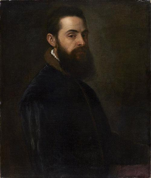 Tiziano.Retrato de Antonio Anselmi,1550.Óleo sobre lienzo.75x63cm.Colección Thyssen.La captación de la personalidad,el ensimismamiento de la mirada del que fue secretario del Cardenal Pietro Bembo,sobria imagen y potente iluminación.