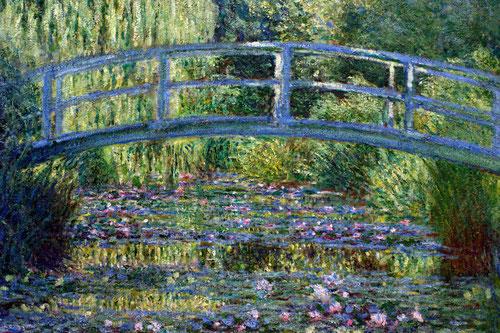 Monet.Le Bassin aux nympheas,harmonie verte,1899 (estanque de nenúfares.Armonía en verde)Monet prosigue su carrera hasta bien entrado SXX.