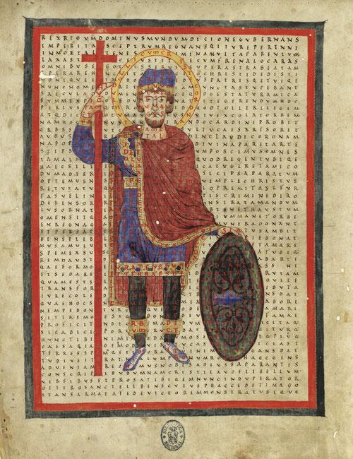 """""""De laudibus Sanctae Crucis"""" forma parte dela rica biblioteca que reunió el IV Duque de Uceda, con mas de 4000 vol. En la imagen todo un programa didáctico con impactantes ilustraciones, múltiples variantes y laberintos."""