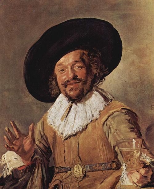 Frans Hals.Un miliciano sosteniendo un vaso de vino 1628.Óleo sobre lienzo 81x66cm.Amsterdam rijksmuseum.