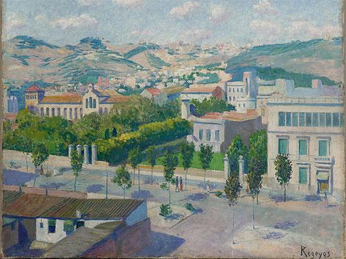 La diagonal de Barcelona,1912.Óleo sobre lienzo.49x60cm.Museo de Bellas Artes de Bilbao.