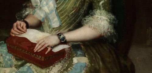 Francisco de Goya.Retrato de Manuela Camas 1792.Como pintor de cámara de Carlos III,Carlos IV y Fernando VII inmortalizó a la familia real,a las élites de la aristocracia y burguesía.Sus tonos nacarados característicos,sombreros voluminosos.