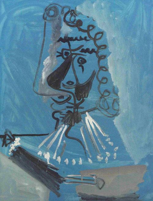 El pintor,Mougins,marzo 1967.Óleo sobre lienzo 92x71cm.Colección particular.