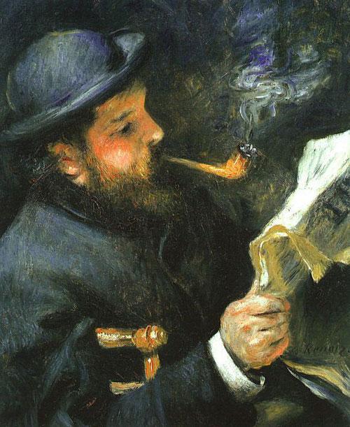 Claude Monet leyendo 1873.Óleo sobre lienzo.61x50cm.Paris,Musée Marmottan Monet.
