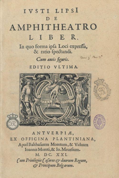 """Ejemplar bellamente encuadernado """"De anphitheatro liber"""" en pergamino verde con finos hierros dorados, perteneciente al IV duque de Uceda."""