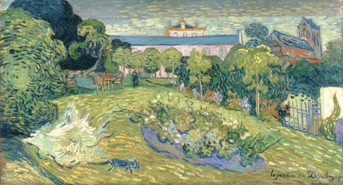 Vincent Van Gogh.1890 El jardín de Daubigny.Uno de los grandes de la pintura universal,influyó entre expresionistas alemanes y fauvistas.Conoció a Bernard, Toulouse Lautrec,Gauguin, Seurat,Signac,Cézanne,pinceladas expresivas y color vivo.