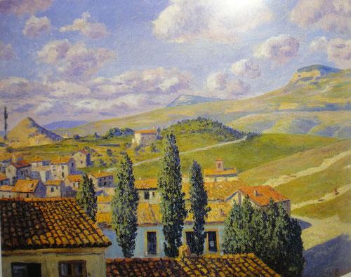 San Feliú de Torrelló.Óleo sobre lienzo.50x61cm.Museo Nacional de Arte de Cataluña, Barcelona.