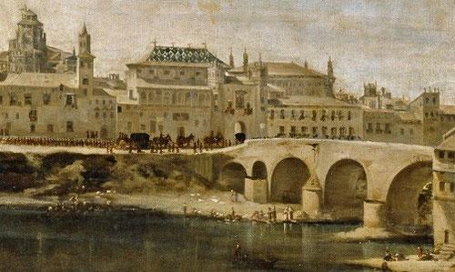 Juan Bautista Mrtnez del Mazo.Detalle. Vistas de la ciudad de Zaragoza,1647.Imponente composición que muestra los estamentos de la sociedad y ordenamiento social fundamentado en el poder del  rey Felipe IV.