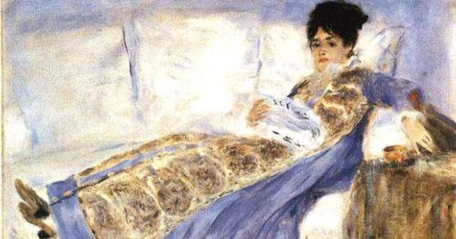 Retrato de mujer de Monet hacia 1872-74. Óleo sobre lienzo.53x71cm.Lisboa,Museu Calausette Gulbenkiam.