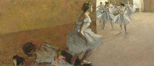 Edgar Degas.Danseuses montant un escalier.1886-90.39x89cm