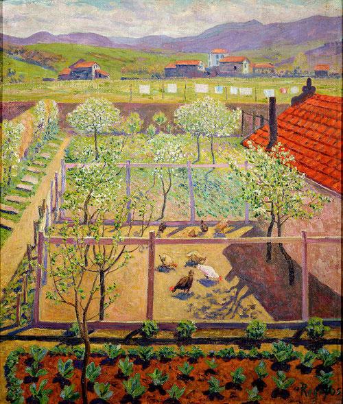 El gallinero,1912.Óleo sobre lienzo.55x46cm.Museo de Montserrat,Barcelona.Donación Sala Ardiz.
