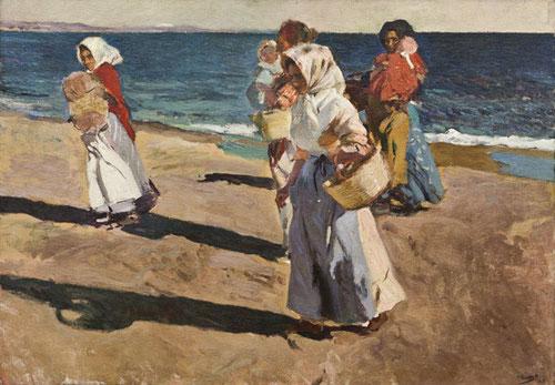 Sorolla.Pescadoras valencianas,1908.Óleo sobre lienzo.93x130cm.Museo Nacional de Bellas Artes de la Habana,Cuba.