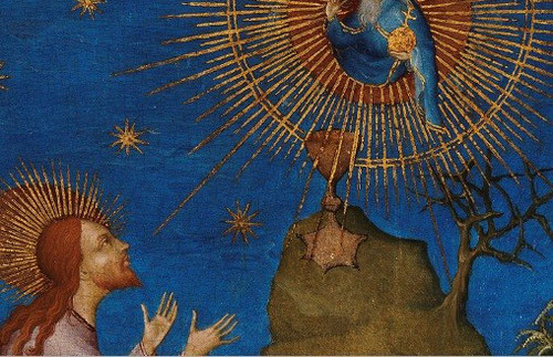 Detalle de anónimo francés. La oración en el huerto con donante  Luis I de Orleans
