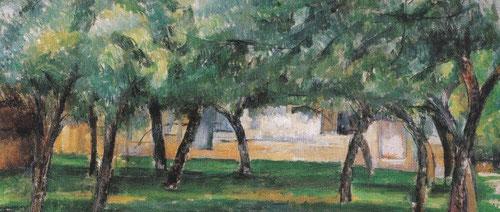 P.Cézanne,Granja en Normandía,1885-6.Óleo sobre lienzo.50x65cm.Albertina,Viena Sammlung Batliner.